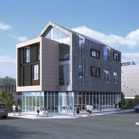 노출 콘크리트로 더욱 트렌디한 상가주택 노출콘크리트, 상가주택, 매스, 옐로우스톤