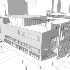 상도중학교 강당겸체육관 증축 설계 학교건물, 학교체육관, 학교강당, 중학교, 건축