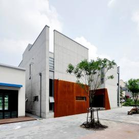 노출콘크리트의 갤러리형 단독주택