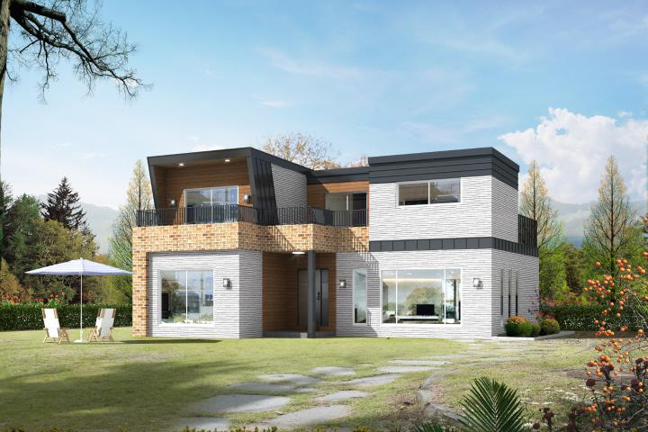 친환경 모듈러주택, 전원주택 (40-50평)