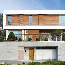 중후한 볼륨감이 살아있는 단독주택 LongArm 단독주택, 모던주택, 적삼목, 스타코플렉스, 화강석, 볼륨, 매스감