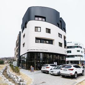 곡선미가 돋보이는 상가주택_ Grand Piano 상가주택, 미사지구, 곡선미, 칼라강판, 화이트벽돌