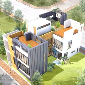내/외부 공간이 소통하는 판교 205주택 단독주택, 판교주택, 스타코, 징크,