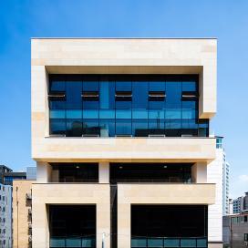 문래동 랜드마크 지율빌딩(JIYOOL Bldg) 사옥, 회사, 라임스톤, 랜드마크, 심플함