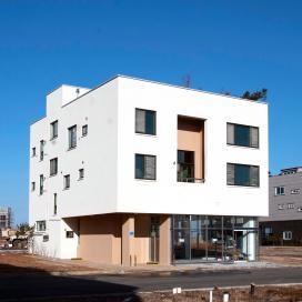하얀 박스가 돋보이는 상가주택 화이트주택, 모던주택, 상가주택, 내포신도시, 스타코, 다가구주택