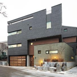 스킵플렉스, 듀플렉스 주택(Skip+Duplex = Skiplex Home) 모던, 땅콩주택, 듀플렉스, 단독주택, 스킵플로어