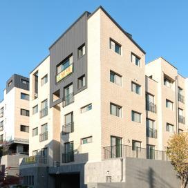 합리적으로 분양성을 극대화 한 다세대주택 다세대주택, 용인주택, 파벽돌, 징크