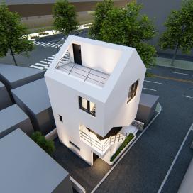 종암동의 랜드마크 협소주택 (Small House in Jongamdong) 협소주택, 모던주택, 종암동주택, 스타코플렉스