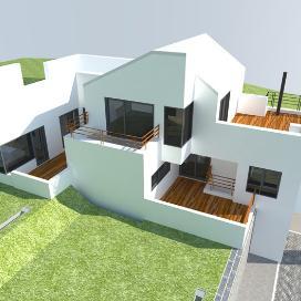 푸르른 잔디 위 빛나는 순백의 주택