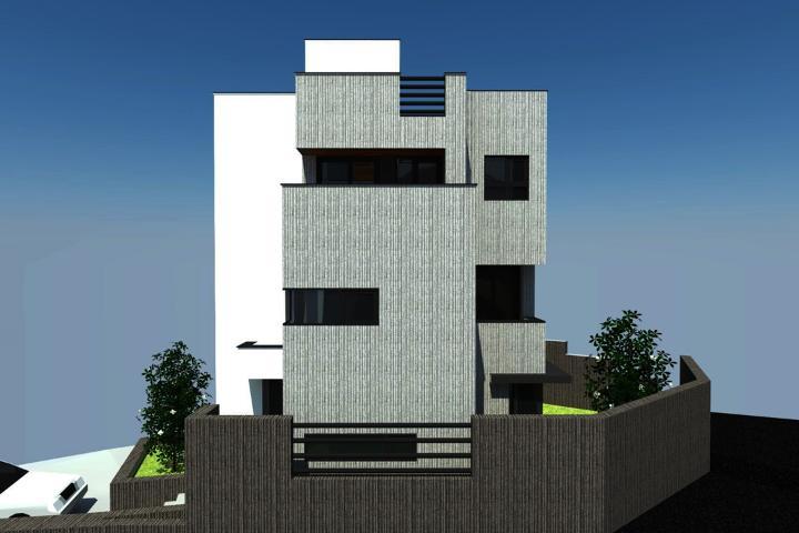 모던함이 형태화된 모노톤 주택